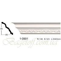 Карниз(плинтус) потолочный с орнаментом Classic Home 1-0901, лепной декор из полиуретана
