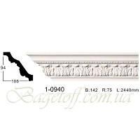 Карниз(плинтус) потолочный с орнаментом Classic Home 1-0940, лепной декор из полиуретана