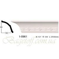 Карниз(плинтус) потолочный с орнаментом Classic Home 1-0961, лепной декор из полиуретана