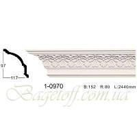 Карниз(плинтус) потолочный с орнаментом Classic Home 1-0970, лепной декор из полиуретана