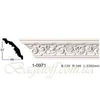 Карниз(плинтус) потолочный с орнаментом Classic Home 1-0971, лепной декор из полиуретана