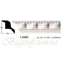 Карниз(плинтус) потолочный с орнаментом Classic Home 1-0980, лепной декор из полиуретана