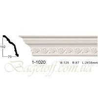 Карниз(плинтус) потолочный с орнаментом Classic Home 1-1020, лепной декор из полиуретана