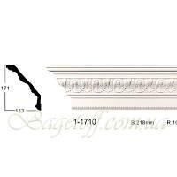 Карниз(плинтус) потолочный с орнаментом Classic Home 1-1710, лепной декор из полиуретана