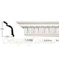 Карниз(плинтус) потолочный с орнаментом Classic Home 1-1760, лепной декор из полиуретана