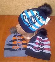 Зимняя шапка для мальчика на флисе, фото 1