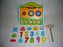 Деревянная игрушка Сортер стучалка Домик, фото 5