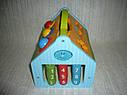 Деревянная игрушка Сортер стучалка Домик, фото 7
