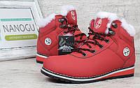 Ботинки женские зимние на цигейке Baas Waterproof red красные, Красный, 37
