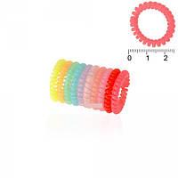 Резинки силиконовые спираль маленькие пастельных тонов