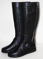 Высокие сапоги женские на толстой подошве, женские кожаные сапоги от производителя модель МИ15-1