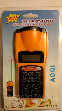 Лазерный ультразвуковой дальномер Ultrasonic Measurer Laser Point AOQI, лазерная рулетка, линейка Аоки)