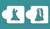 Трафарет двойной Свадебный танец