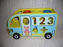 Деревянная игрушка Сортер стучалка каталка Автобус, фото 3