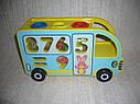 Деревянная игрушка Сортер стучалка каталка Автобус, фото 4