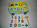 Деревянная игрушка Сортер стучалка каталка Автобус, фото 5