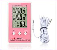 Термометр,гигрометр (измеритель влажности) Смайлик-индикатор. .