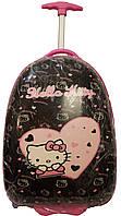 Чемоданчик на колесах детский Suitcase Hello Kitty black
