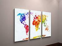 Картина модульная на стену карта мира