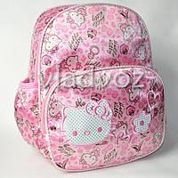 Детский рюкзак hello kitty нежно розовый котики