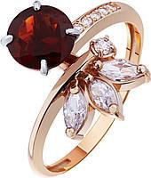 Кольцо золотое c гранатом , фото 1