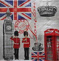 "Салфетка для декупажа ""London"", размер 33*33 см, трехслойная"