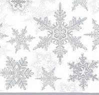 """Салфетка для декупажа """"Снежинки"""", размер 33*33 см, трехслойная"""