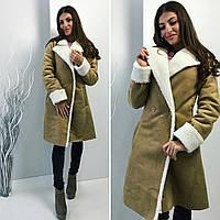 "Модная Дубленка ""Янтарь"" на овчине"