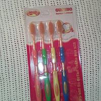 Золотые бамбуковые зубные НАНО щетки, 1 упаковка = 4 штуки, фото 1