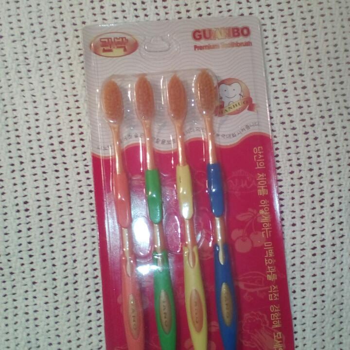 Золотые бамбуковые зубные НАНО щетки, 1 упаковка = 4 штуки