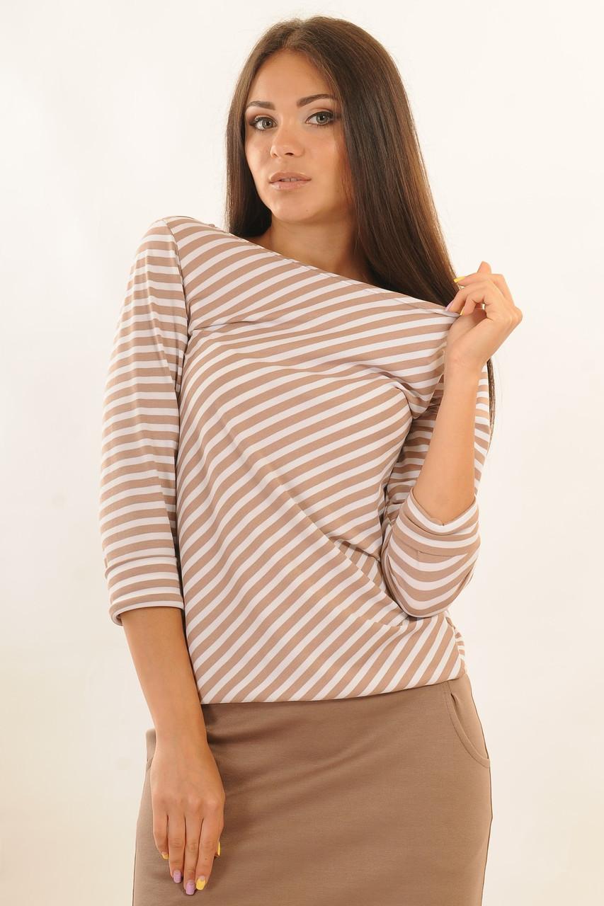 """Стильная блуза в стиле """"casual"""", комфортный свободный силуэт, удлиненный рукав с манжетом, низ присобран на ре, фото 1"""