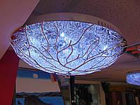 Люстра лед  Алюминий Ветка 500мм серебро, фото 1