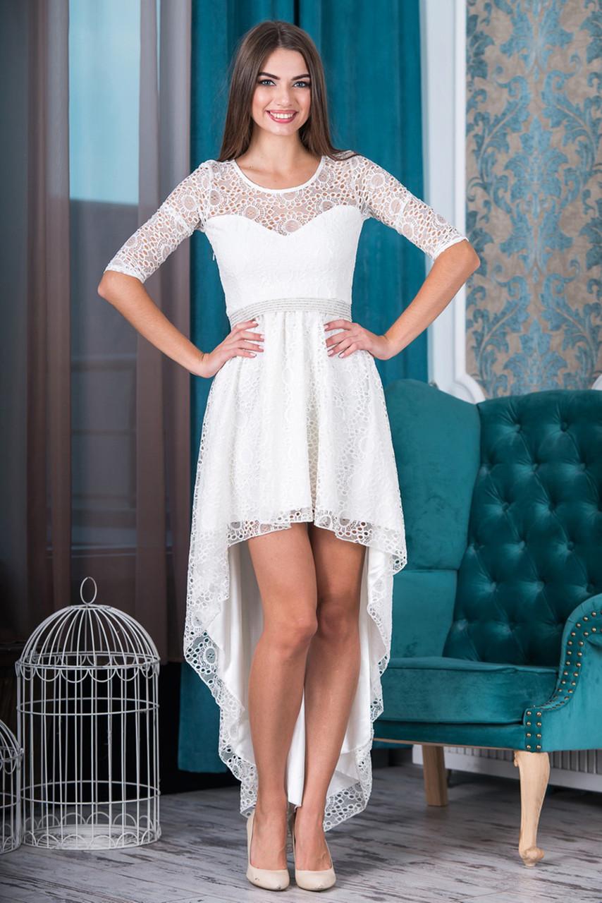 Платье вечернее Годелив молочное