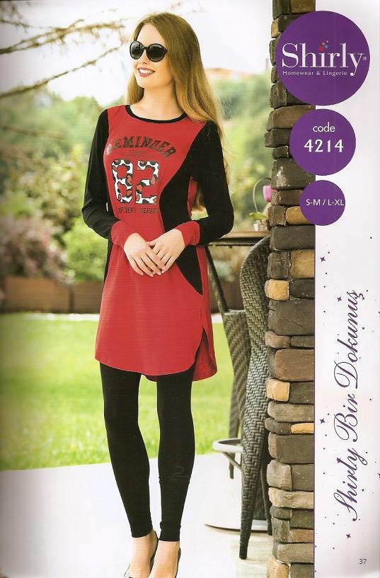 Женское платье-туника и лосины