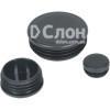 Заглушка круглая черная диаметр 25 мм