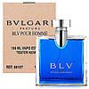 Мужская туалетная вода Bvlgari BLV Pour Homme for Men Eu de Toilette (EDT) 100ml, Тестер (Tester)