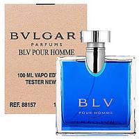 Мужская туалетная вода Bvlgari BLV Pour Homme for Men Eu de Toilette (EDT) 100ml, Тестер (Tester), фото 1