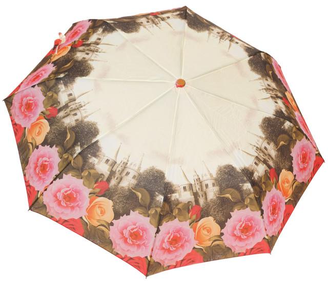 Красивый женский зонт с цветами