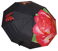 Необычный зонт полуавтомат 4491 роза