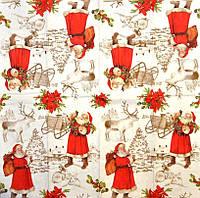 "Салфетка для декупажа ""Санта Клаус"", размер 24*24 см, трехслойная"