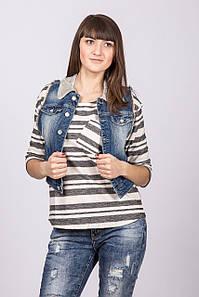 Жилет джинс женский Blue White Jeans BLUE WHITE 120924 GOALI DENIM
