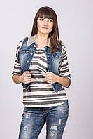 Жилет джинс женский Blue White Jeans BLUE WHITE 120924 GOALI DENIM XL