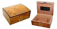 Хьюмидор для 25 сигар «Oval», Арт.0256300, светлокоричневый, фото 1