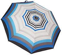 Стильный женский зонт автомат 6107/2 полосы blue