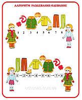 """Стенд для детского сада """"Алгоритм одевание-раздевание"""""""