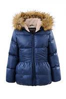 Детская зимняя куртка с меховой опушкой - Колокольчик