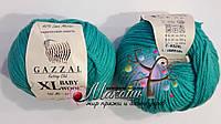 Пряжа Бэби вул XL Baby Wool XL Gazzal, 832, изумруд