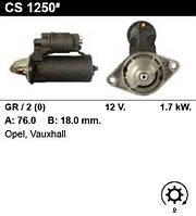 Стартер на OPEL Omega B 2.6 V6, 3.2 V6, Omega B Estate 2.6 V6, 3.2 V6, 0001115012