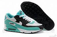 """Кроссовки женские Nike Air Max 90 """"Бирюзовые с белым"""", размер 36,40, фото 1"""