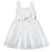 Воздушное праздничное платье 15-403 для девочки от 4 до 9 лет (р. 98-128) ТМ Kids Couture Белый